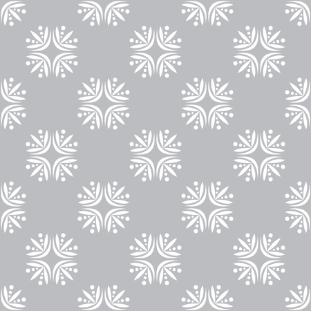 vector background, unusual seamless pattern with white and gray elements, geometric design, vector illustration