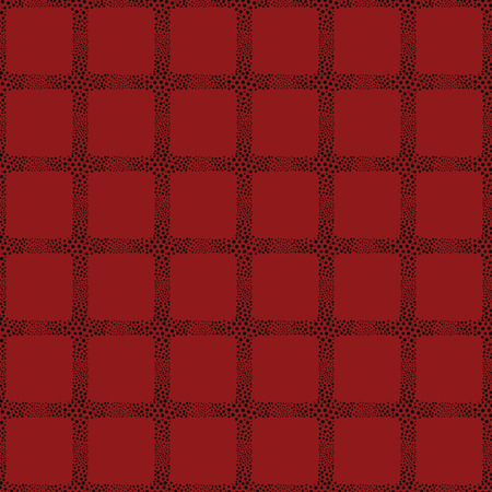 vector background, unusual seamless pattern with  black and red elements, geometric design, vector illustration