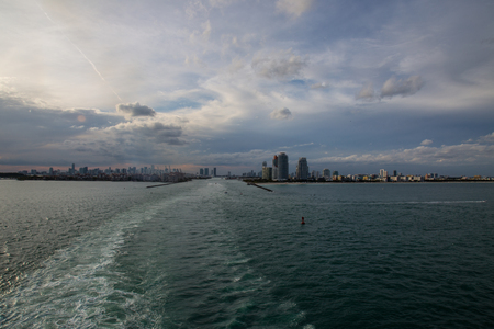 port everglades: Leaving port of miami on a cruise ship