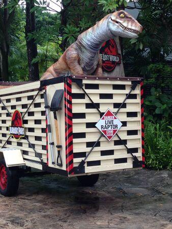 raptor: A live raptor inside a truck