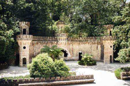 Portal of guardians in Quinta da Regaleira in Sintra, Portugal.