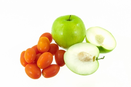 Jujube fruit and tomatoes Stock Photo - 17362084