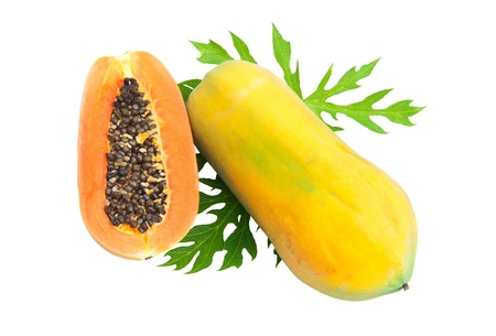 Papaya isolated on a white background photo