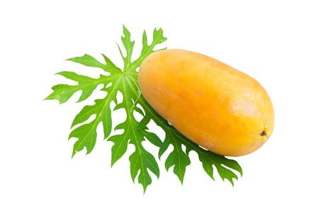 Ripe papayas isolated on white background