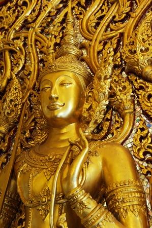 Golden angel statue photo