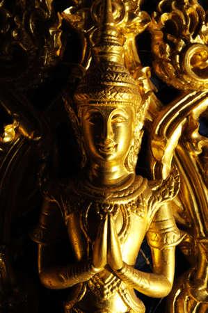 Golden angel statue Stock Photo