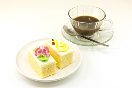 Cup of coffee and cake Stock Photo
