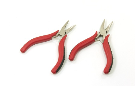 pliers on white background