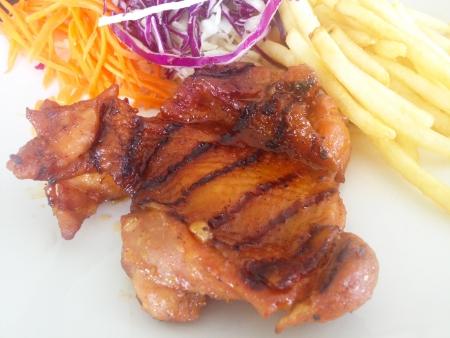 Steak, chicken Stock Photo
