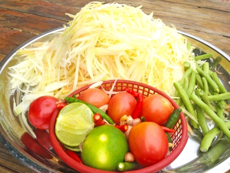 slatternly: Thai papaya salad with Fermented Fish (Som Tum Slatternly )