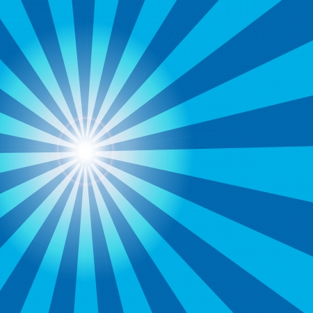 Abstract sun blue background Vector