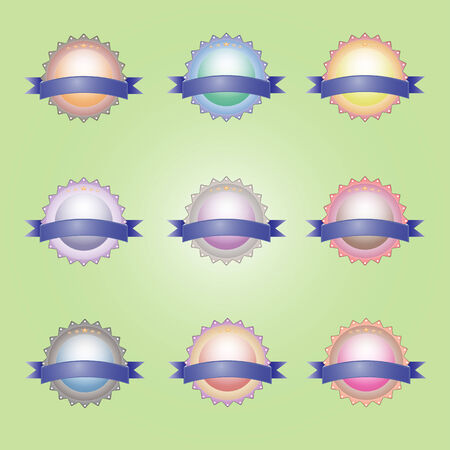 vector labels tag icon set is painted with a beautiful ribbon