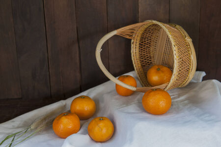 still life with orange fruit is delicious with sweet  flavor
