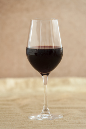 wine in a glass Stock Photo
