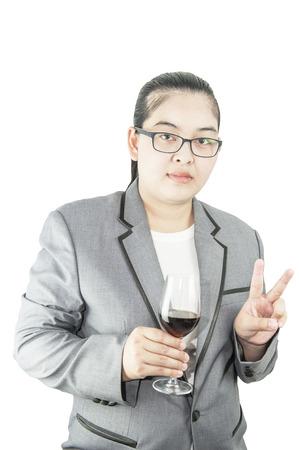 Businesswoman ; call center