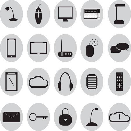 remote lock: Conjunto del icono de 20 oficinas