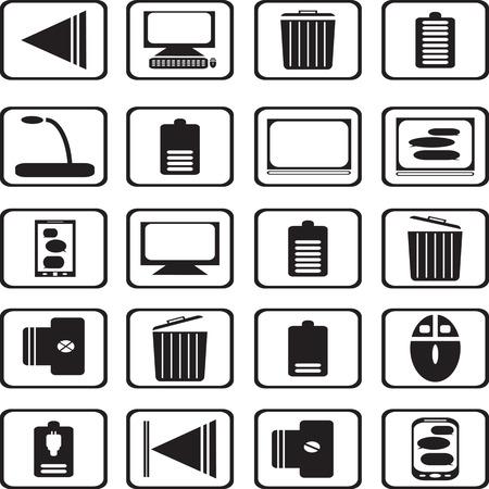 remote lock: conjunto de iconos Vectores
