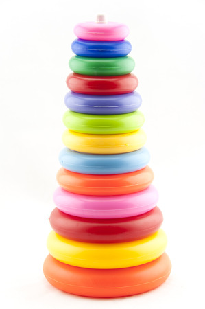 Plastic toy pyramid shape photo