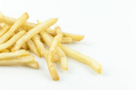 French fries  on the white background