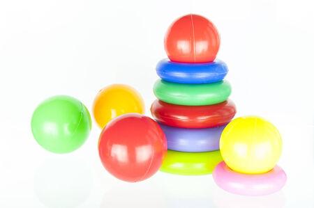 Plastic toy pyramid shape Stock Photo