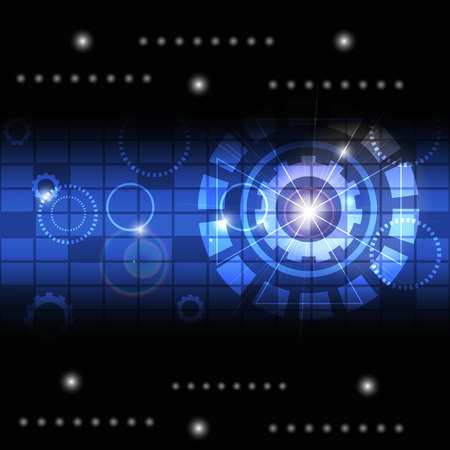 technology background abstract vector