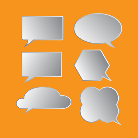 in thought: bubble; speech; thought; vector;set Illustration