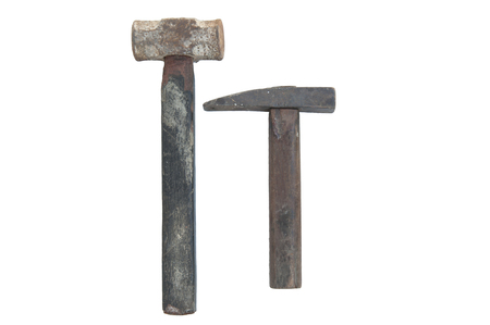 Hammers on a white background. Stock Photo