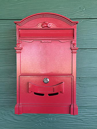Postbox red Stock Photo