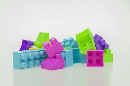 Toy plastic multi-colored children