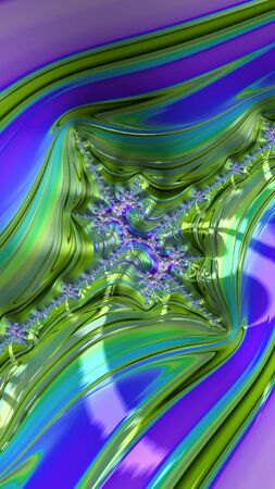 Artfully 3D rendering fractal, fanciful abstract illustration and colorful designed pattern