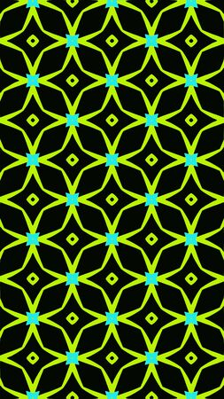 Ornate geometric pattern and abstract colored background