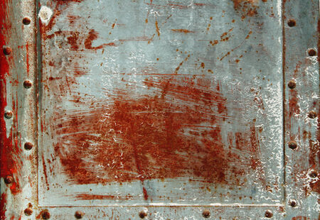tarnished: metal frame and texture Stock Photo