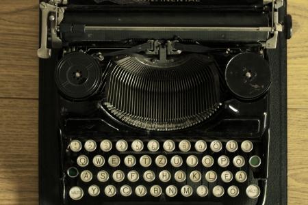 publicist: old typewriter
