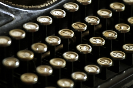 publicist: old typewriter - keyboard Stock Photo