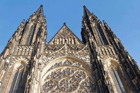 vitus: St Vitus Cathedral, Prague Stock Photo