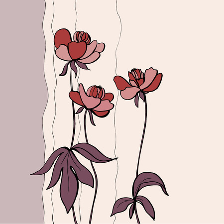 wite: Artistic blooming flower  Hand draw flower illustration on wite background  Cute flower design