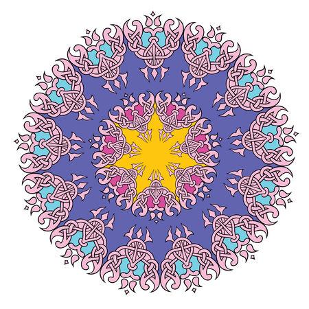 Lace mandala. Indian style ornament. Vintage illustration Vector