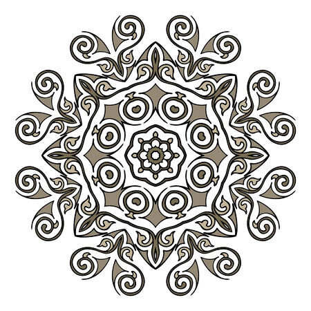 Lace mandala. Indian style ornament. Vintage illustration Vector