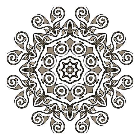 Lace mandala. Indian style ornament. Vintage illustration