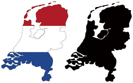 vector map and flag of netherlands Stock Vector - 5572059