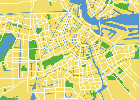 netherlands map: Precisely vector city map of Amsterdam Netherlands. Illustration