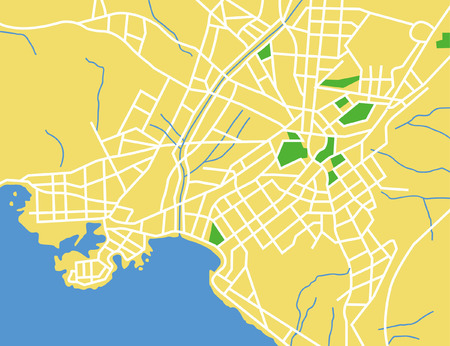 Vector map of Athens.  Vector