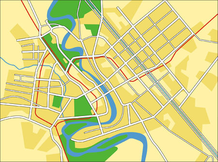 iraq: Layered vector city map of Baghdad, Iraq.