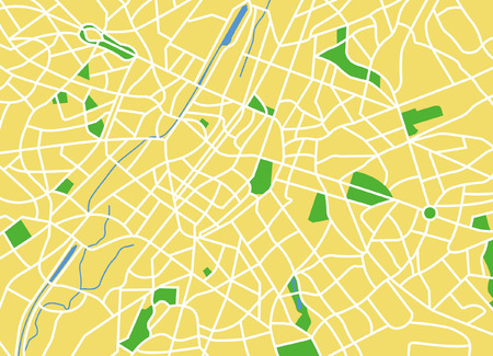 Vector pattern city map of Brussels, Belgium. Vector