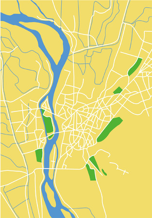 nile river: Layered vector city map of Cairo, Egypt.