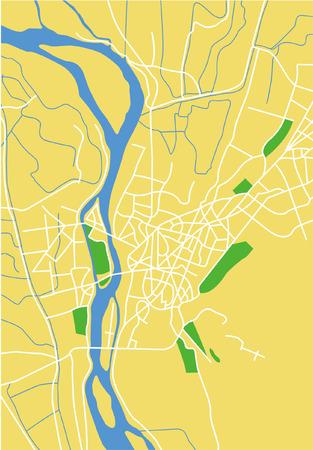 cairo: Layered vector city map of Cairo, Egypt.