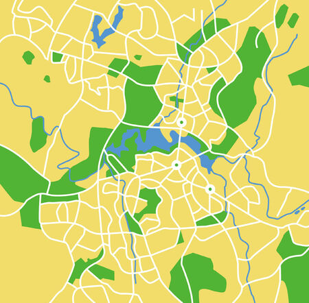 canberra: Vector pattern city map of Canberra, Australia. Illustration