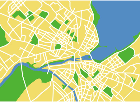 precisely: Precisely vector city map of Genevese Switzerland