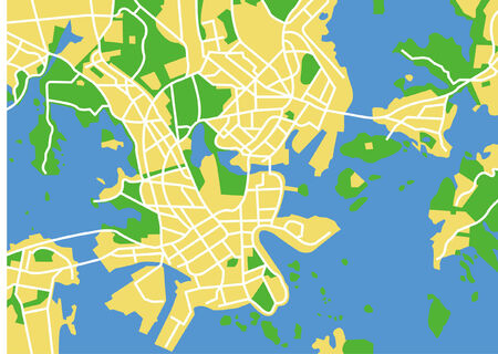 Vector pattern city map of Helsinki, Finland.