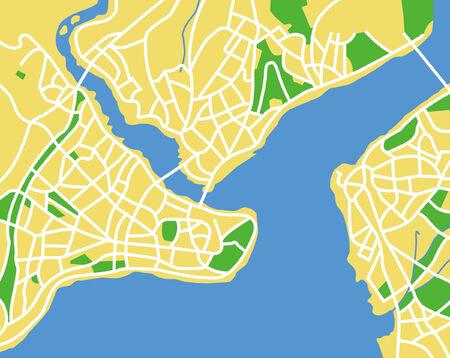 street map: Istanbul Illustration